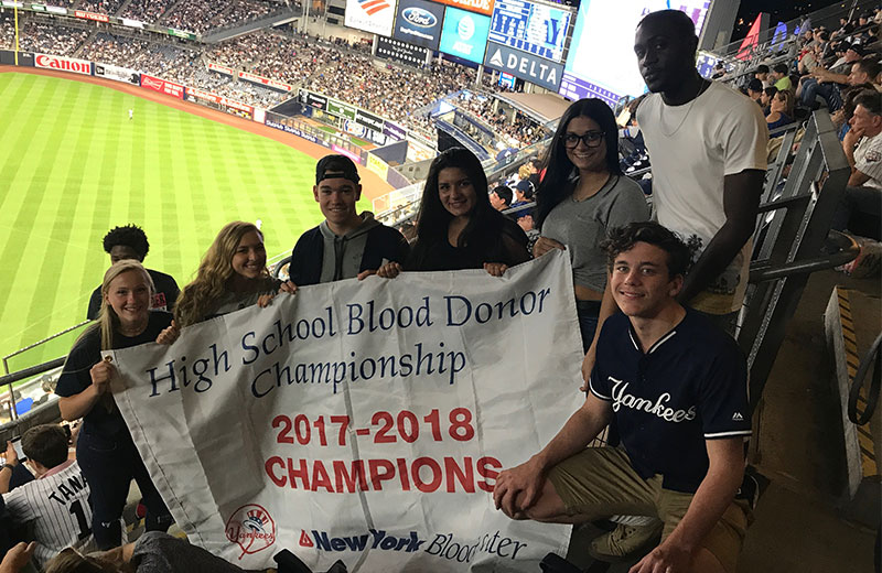 New York Blood Services Recognizes Bellport High School's National Honor...