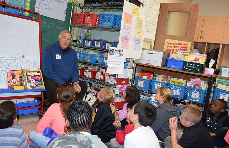 NYS Regent Roger Tilles Visits South Country Schools
