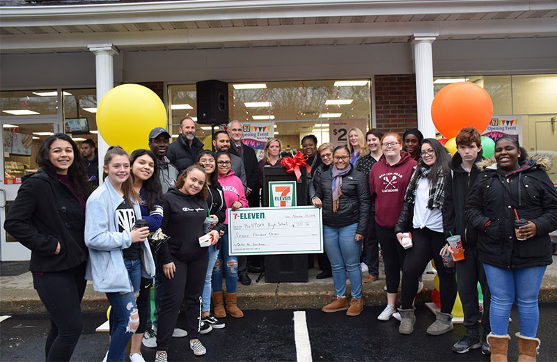 Bellport HS Center of Excellence Receives Donation from Brookhaven 7-Eleven